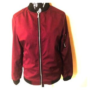 NWOT Men's Lined Maroon Jacket